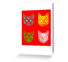 Color Cats Greeting Card