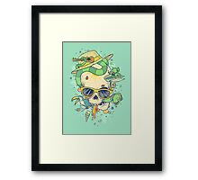 Summer skullin' Framed Print