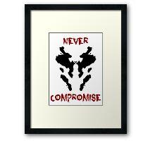 Never Compromise Rorschach Watchmen Framed Print