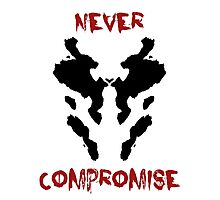 Never Compromise Rorschach Watchmen Photographic Print