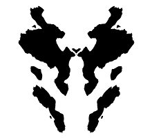 Rorschach Watchmen Photographic Print