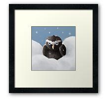 Grumpy owl Framed Print