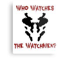 Who watches the watchmen? Rorschach Watchmen Metal Print