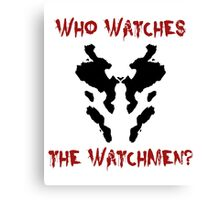Who watches the watchmen? Rorschach Watchmen Canvas Print