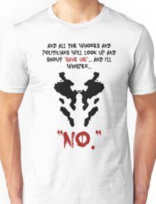 Quote Rorschach Watchmen Unisex T-Shirt