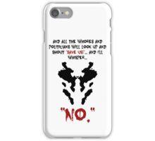 Quote Rorschach Watchmen iPhone Case/Skin
