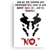 Quote Rorschach Watchmen Metal Print
