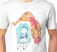 Fire and Water Adventure Time  Unisex T-Shirt