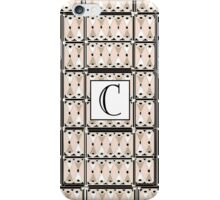 1920s Pink Champagne Gatsby Monogram letter C iPhone Case/Skin