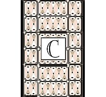 1920s Pink Champagne Gatsby Monogram letter C Photographic Print
