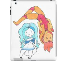 Fire and Water Adventure Time  iPad Case/Skin