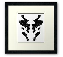 Rorschach Vintage Watchmen Framed Print