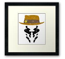 Rorschach Watchmen Vintage Framed Print