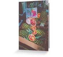 Pineapple & Dragon Fruit Greeting Card