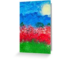 Through the Poppies. Greeting Card