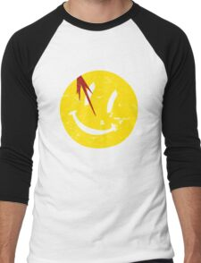 Watchmen Symbol Smile Vintage Men's Baseball ¾ T-Shirt