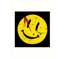 Watchmen Symbol Smile Vintage Art Print