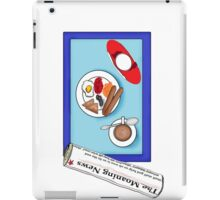 Breakfast at the computer iPad Case/Skin