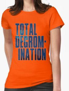 Total deGromination In Blue Womens Fitted T-Shirt
