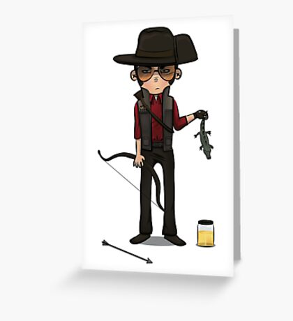 Red Sniper Greeting Card