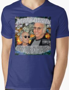 LARRY DAVID Mens V-Neck T-Shirt