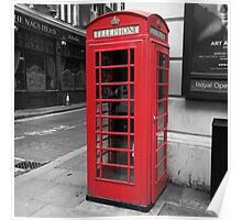 """Telephone"" - London Telephone Box Poster/Frame/Print Poster"