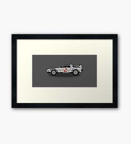 Ghostbusters To The Future! Framed Print