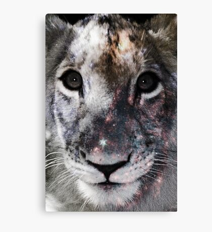 Galaxy Lion Cub Canvas Print