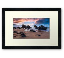 Adraga Afterglow Framed Print