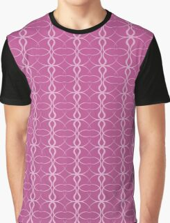 Abstract Pink Style Graphic T-Shirt