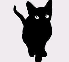 Sad Black Cat by BrandiCarroll