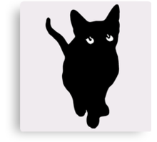Sad Black Cat Canvas Print