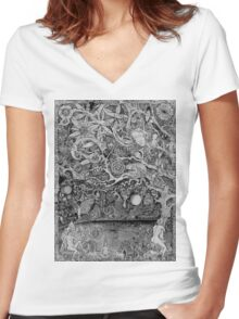 The Forest Women's Fitted V-Neck T-Shirt