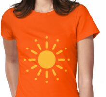 Sun / Soleil / Sol / Sonne / Sole / Zon (Yellow) Womens Fitted T-Shirt