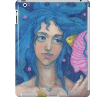 Little Mermaid, Underwater Fantasy Art, Pink & Blue iPad Case/Skin