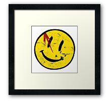 Watchmen Symbol Vintage Framed Print