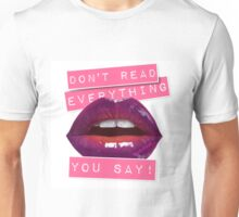 Speak read Unisex T-Shirt