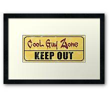 Cool Guy Zone  Framed Print