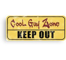 Cool Guy Zone  Canvas Print