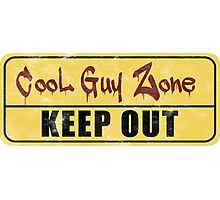 Cool Guy Zone  Photographic Print