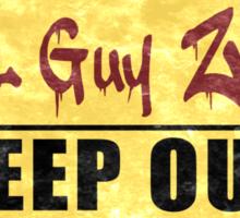 Cool Guy Zone  Sticker