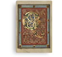 Decorated Incipit Page - Opening of Luke's Gospel (1120 - 1140 AD) Canvas Print