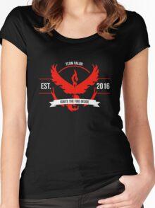 Team Valor Design 1 Women's Fitted Scoop T-Shirt