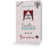 Valentine's Day - Couples - You and me Greeting Card