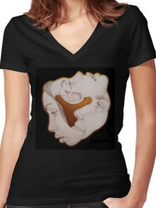 Surrealcubism Women's Fitted V-Neck T-Shirt