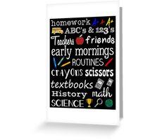 School Days Greeting Card