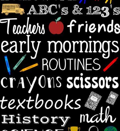 School Days Sticker
