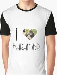 I Love Harambe Graphic T-Shirt