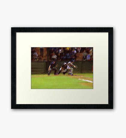 Strike 3! Best Viewed Large Framed Print