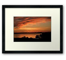 Sunset Seaside Framed Print